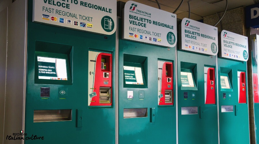 Ticket machines at Rome's Termini station. Not complicated!