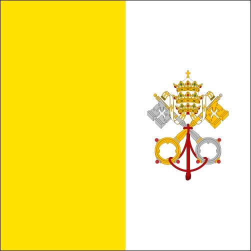 The flag of the Vatican City