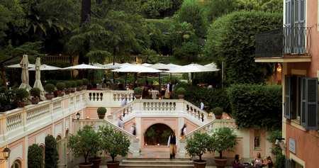 Hotel Russie terraced gardens