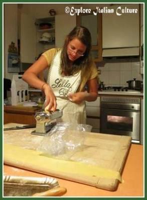 Put the dough into the machine