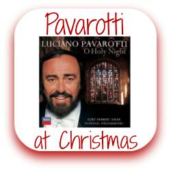 Pavarotti sings Christmas link