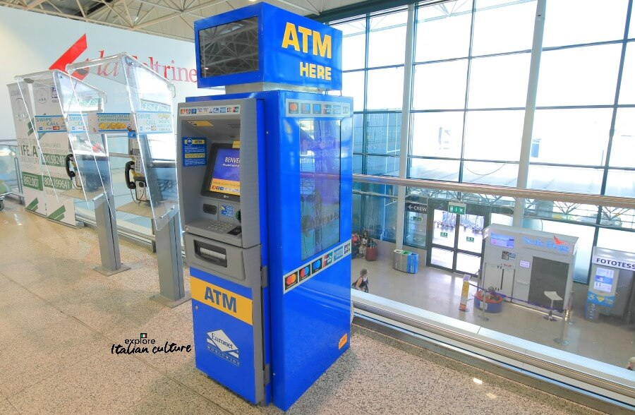 An ATM at Fiumicino airport.