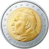 Italian currency Vatican coin