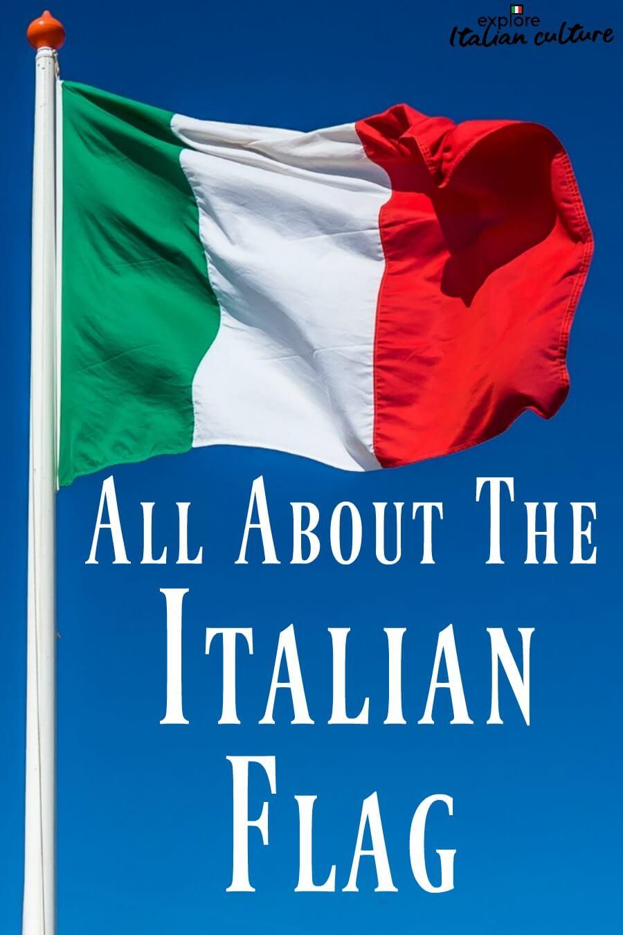 The Italian flag - link.