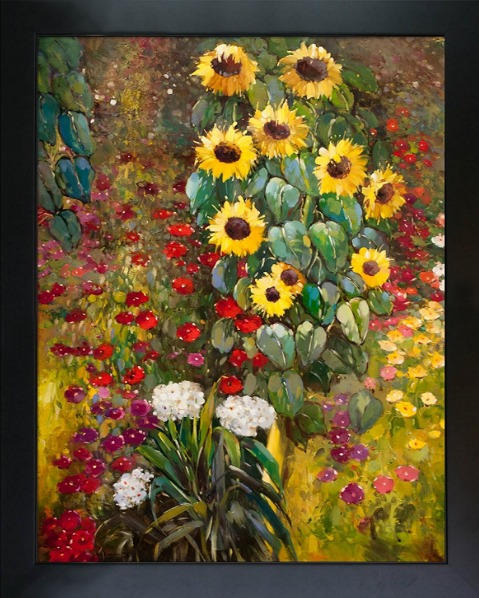 Sunflowers oil painting.