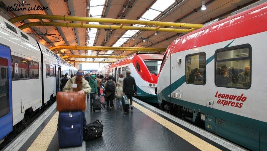 The Leonardo Express, at Rome Fiumicino airport.