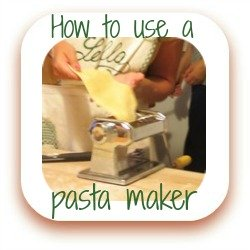 Link to making fresh pasta using Imperia's pasta machine