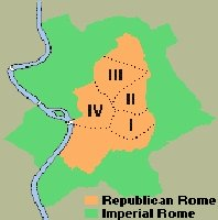 Map ancient Rome