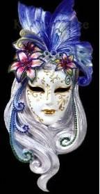 Mardi Gras face masks Dama
