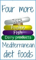 Mediterranean diet food pyramid tiers 4 to 7 link