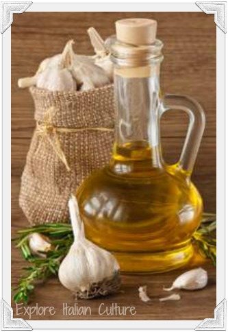 Olive oil and garlic - two main ingredients of a Mediterranean diet