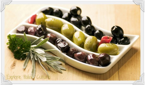 Delicious fresh olives - a great healthy food
