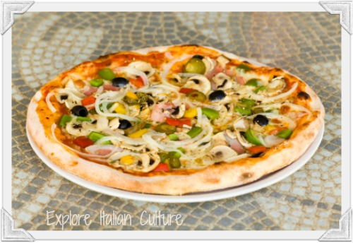 A delicious fresh pizza can make a healthy meal