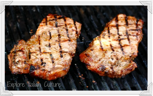 BBQ red meat as part of Mediterranean diet foods