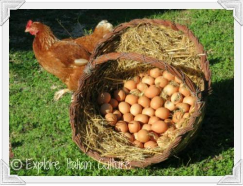 Healthy Mediterranean diet eggs