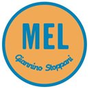 Mel Giannino Stoppani bookstore, Rome, logo