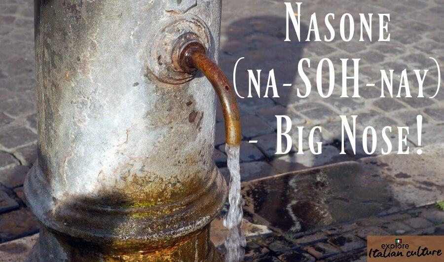 Rome's nasone - big nose - drinking fountains.