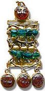 Ancient Roman glass brooch