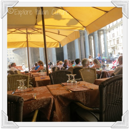 Enjoy a drink or a meal at one of the many restaurants outside the Pantheon