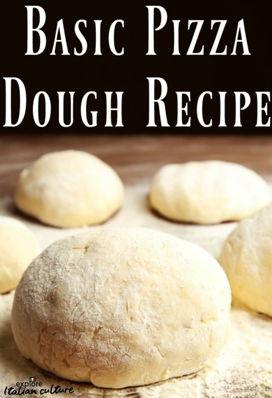 Basic pizza dough recipe - link.