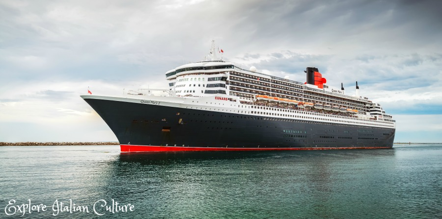 Cunard's Queen Mary 2 - the only cruise ship to allow dogs and cats to travel across the Atlantic.