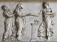 Roman wedding ceremony