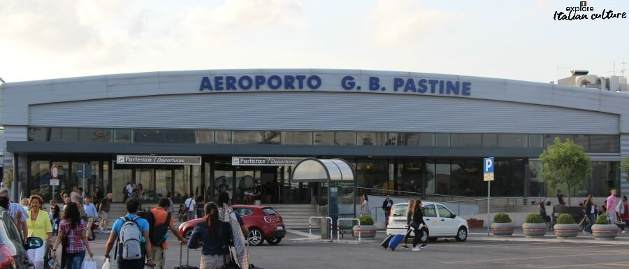 The rather unprepossessing frontage of Ciampino airport, Rome.