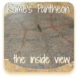 Link to information about the inside of the Pantheon in Rome