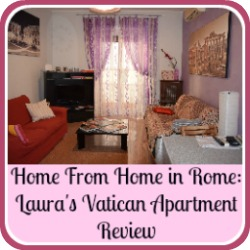 Laura's Vatican apartment, Rome, review - link.