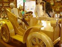 Bartolucci's life-sized wooden car.