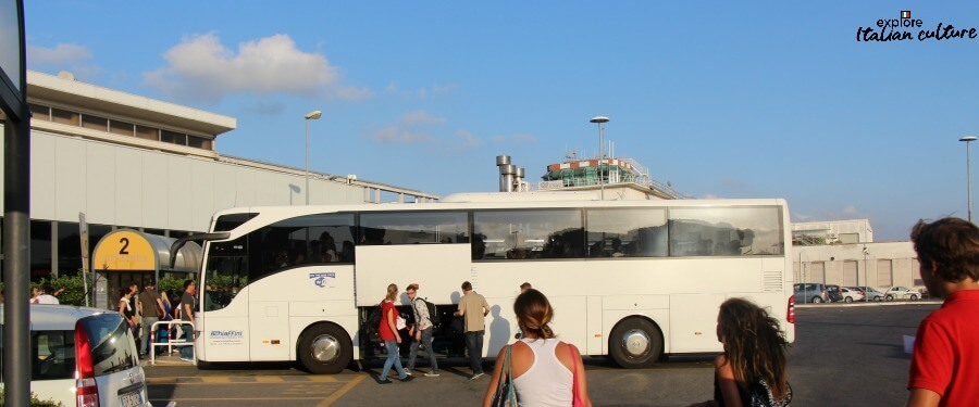 The shuttle bus from Ciampino airport.