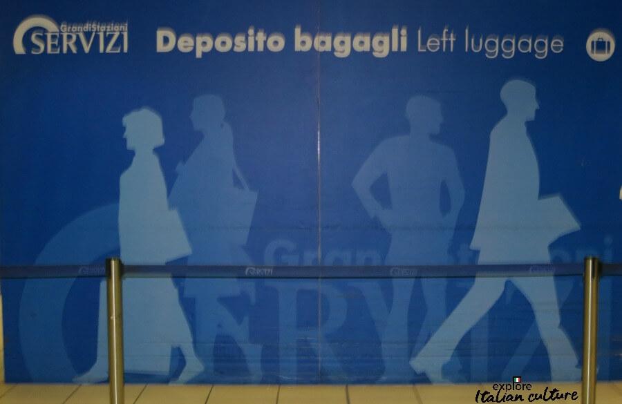 Termini left luggage department.
