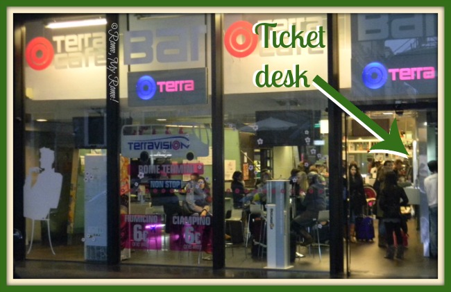 The Terravision cafe at Termini station, Rome, Italy.