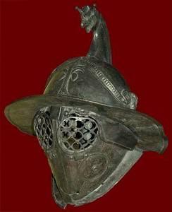 Ancient Roman gladiators helmet