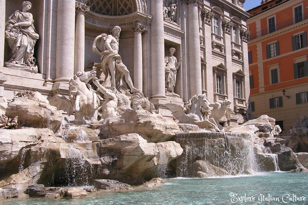 The Trevi Fountain: an amazing work of art - you'll never forget the first time you see it.