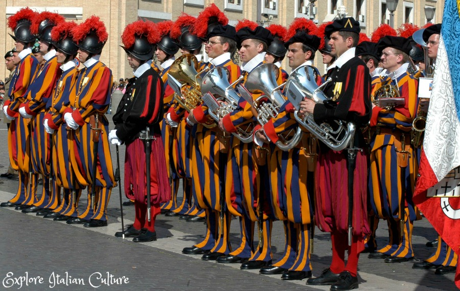 The Swiss Guard have their own band.