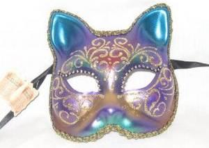 Italian Carnevale masks the cat