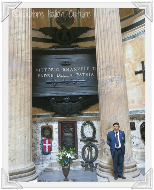 Tomb of King Vittorio Emanuele inside the Pantheon in Rome