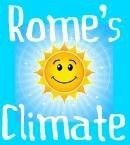 Clickable link to Rome's average hours of sunshine and rainfall